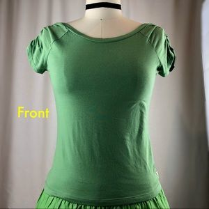 Abercrombie & Fitch Green deep Vback T-shirt sizeM